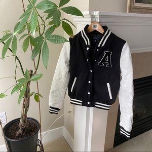 BLUENOTES Black Letterman Varsity Jacket